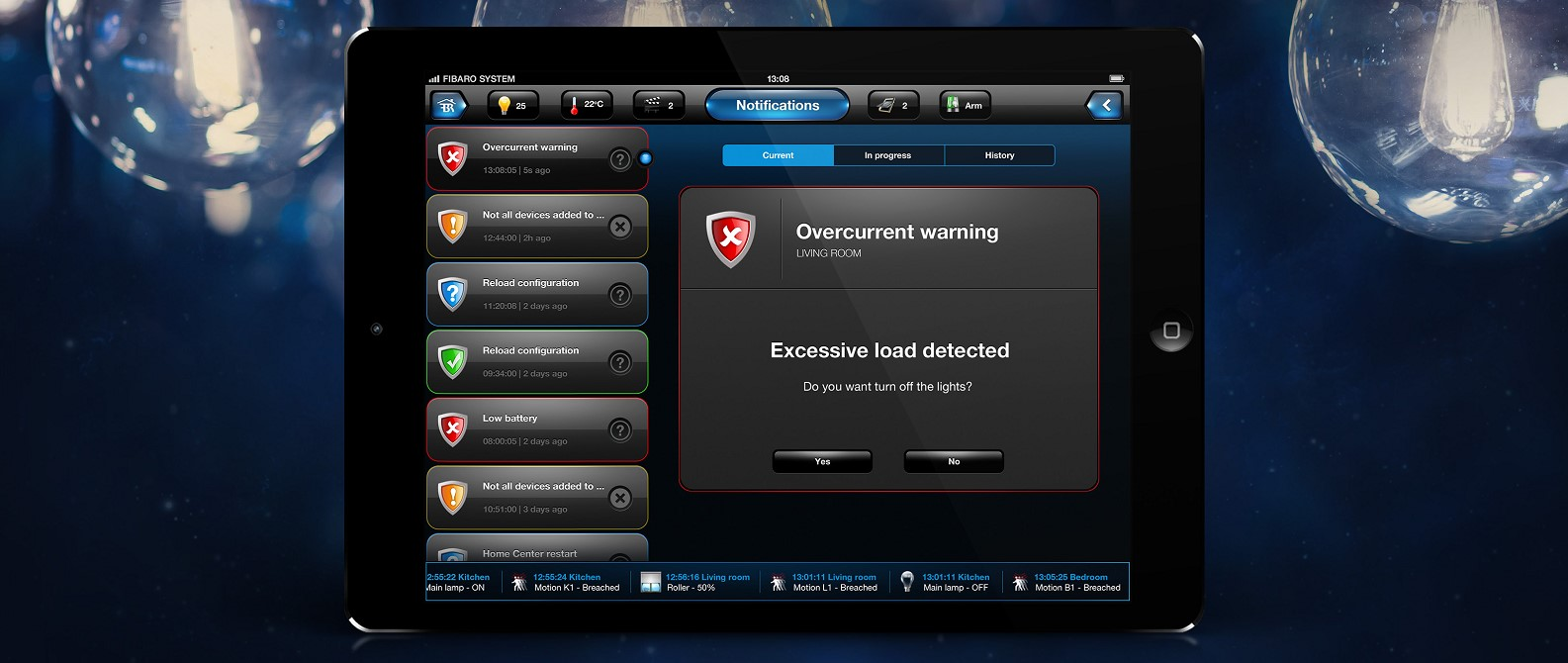 Fibaro Dimmer2 Security and Notification class